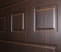 Облицовка входных дверей МДФ панелями